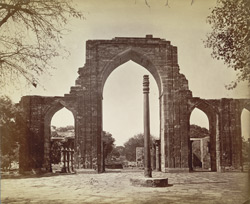 Great Arch and Iron Pillar, Delhi.